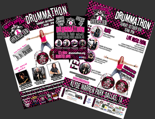 Promote Drummathon with posters and flyers